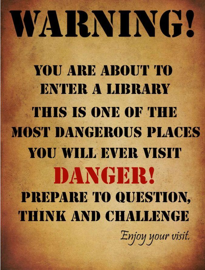 warning poster by phil bradley